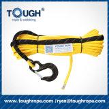 自動車部品の多色刷りの電気ウィンチロープ8mm x 35mの合成物質ロープ