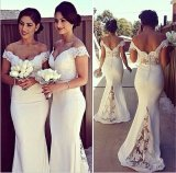 Custom Mermaid off hombro vestido vestido de encaje vestidos Bridesmaid Top