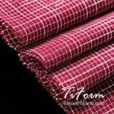 Negro y rojo, tejido de poliéster algodón Plaid