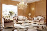 Свежая белая софа ткани твердой древесины 0062 классическая