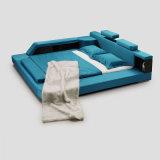 زرقاء بناء سرير فندق يعيش غرفة حديثة غرفة نوم أثاث لازم [فب8001]