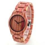 Горячая продажа индивидуального логотипа моды красный красочные пару часы из бамбука