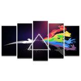 Farbanstrich-HD gedrucktes modulares Segeltuch Pokemon stellt Raum-Hauptdekor 5 Stücke Pink Floyd-Rockmusik-Wand-Kunst-Plakat-Rahmen-dar