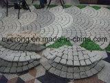 Camino de guijarros de granito o el cubo/Adoquines cúbicos / Piedra pavimentadora en Gris/Negro/Rojo/Amarillo Color para la venta