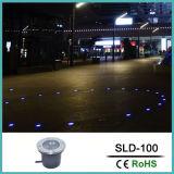 Iluminação ao ar livre das lâmpadas subterrâneas do diodo emissor de luz