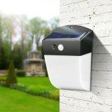 4 lumière imperméable à l'eau extérieure actionnée solaire de mur de rue de voie de jardin de détecteur de mouvement de la lampe PIR des modes 24 DEL