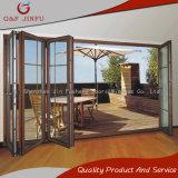 Portello di piegatura di alluminio del Multi-Foglio di profilo con doppio vetro Tempered