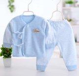 100% Set-Kind-Kleiden der Baumwollneugeborenes Baby-langes Hülsen-Hose-zwei