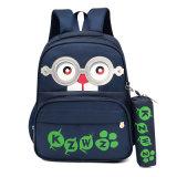 Cartoon Kids Mochila Bolsa Escola personalizado com saco de caneta