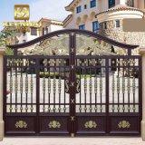 Cancello di giardino di alluminio rivestito di potere moderno decorativo