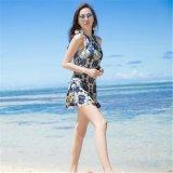 China-blaue Farbe gedrucktes Gewebe für Badebekleidungs-Gewebe (ASQ078)