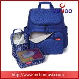 変更のマットが付いている方法お母さんまたはお父さん旅行赤ん坊のおむつのバックパック袋