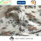 Женщин ткани полиэфира 100d шифоновое платье 100% напечатанных плиссированных задыхается ткань