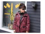 Поддельный двухкусочная зимы куртка вниз для мальчика
