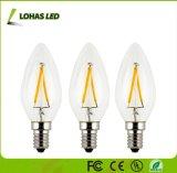 Vidro retro e14 C35 4W Edison Lâmpada Vela de Incandescência do LED
