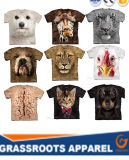 Homens impressos Sublimation do Tshirt do fabricante 3D
