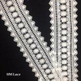 5cm 결혼식 Hmhb1210를 위한 백색 용수철 같은 레이스 직물 손질 리본 의복 부속품