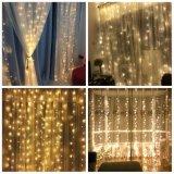 Теплый белый 3m 300 светодиодов Silver медных шторы освещение для дома Декор окна