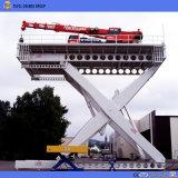 Автомобиль платформы тавра Tavol неподвижный Scissor подъем