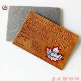 Custom рельефным искусственной кожи и PU наклейки для одежды