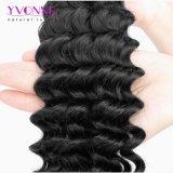 Cabelo profundo de venda quente do brasileiro do cabelo 100% da onda de Yvonne