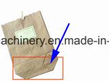 Fondo cuadrado y hexagonal final de la bolsa de papel que hace la máquina