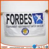 Bandeira da empresa para a organização e a Agência