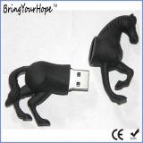 3D 디자인 PVC 물자 말 모양 USB 섬광 드라이브 (XH-USB-140)