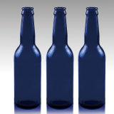 Material de venda quente do frasco de vidro de cerveja do azul de cobalto