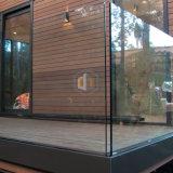 Rete fissa di vetro d'acciaio dell'inferriata di vetro dell'alberino della scala dell'appartamento