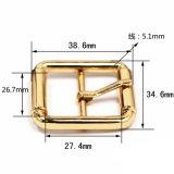 핸드백 (YK914)가 의복을%s 최신 판매 금속 아연 합금 센터 바 버클 Pin 벨트 죔쇠에 의하여 구두를 신긴다