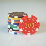 Puce de jeu de puces de tisonnier de jeu d'usager de club de Jetton d'argile de casino