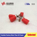 High-Q CNC de carburo sólido molinos de extremo cuadrado