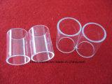 Personnalisée la bride de verre de quartz silice claire