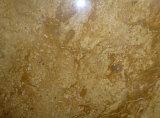 Encimeras de mármol del azulejo de las losas de mármol amarillas de cobre del mármol