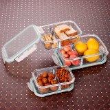 Hohe beständige 2 Fach-Glasmahlzeit-Vorbereitungs-Prämien-Behälter