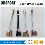 Nuevo cable del adaptador del diseño para el relámpago iPhone7 al adaptador audio aux. del cable de Gato del auricular de 3.5 milímetros