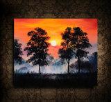 ハンドメイドの現代油絵の日没の景色のホーム装飾