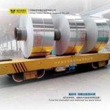 Carro de trilho curvado elétrico do trole do transporte de 25 bobinas da tonelada