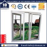 Janela de janela de alumínio e de abertura única de inclinação e inclinação