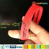 sistema MIFARE do E-bilhete mais o bracelete tecido RFID da tela de S 2K