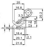 Migliore cerniera esagerata Hl6204 per il portello & la finestra di alluminio