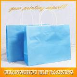 Sac estampé par coutume blanche de papier d'emballage d'impression de couleur de Cmyk de papier d'emballage (BLF-PB345)