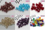 los granos coloridos del cristal de 100PCS 4m m Bicone sueltan los accesorios de la joyería del espaciador