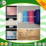Gesundheitliche Serviette-Rohstoff des bunten Backsheet PET Filmes