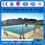 Mini cerca rocosa del vidrio de Frameless de la piscina del poste