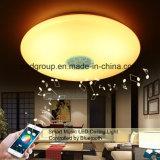 24W de nieuwste Slimme LEIDENE van Bluetooth van de Muziek Lichte LEIDENE RGBW van het Plafond Lampen van het Plafond met 2 Jaar van de Garantie