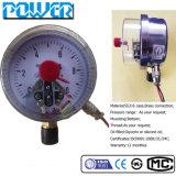Yx-60A 60mm demi d'indicateur de pression électrique de flèche indicatrice d'indicateur de pression d'acier inoxydable de 2.5 pouces