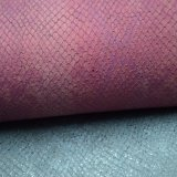 Gravé en relief imiter le tissu en cuir d'unité centrale pour le tissu texturisé par chaussures de sacs