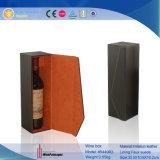 Contenitore di regalo di cuoio su ordinazione portatile del vino dell'imballaggio all'ingrosso (6353)